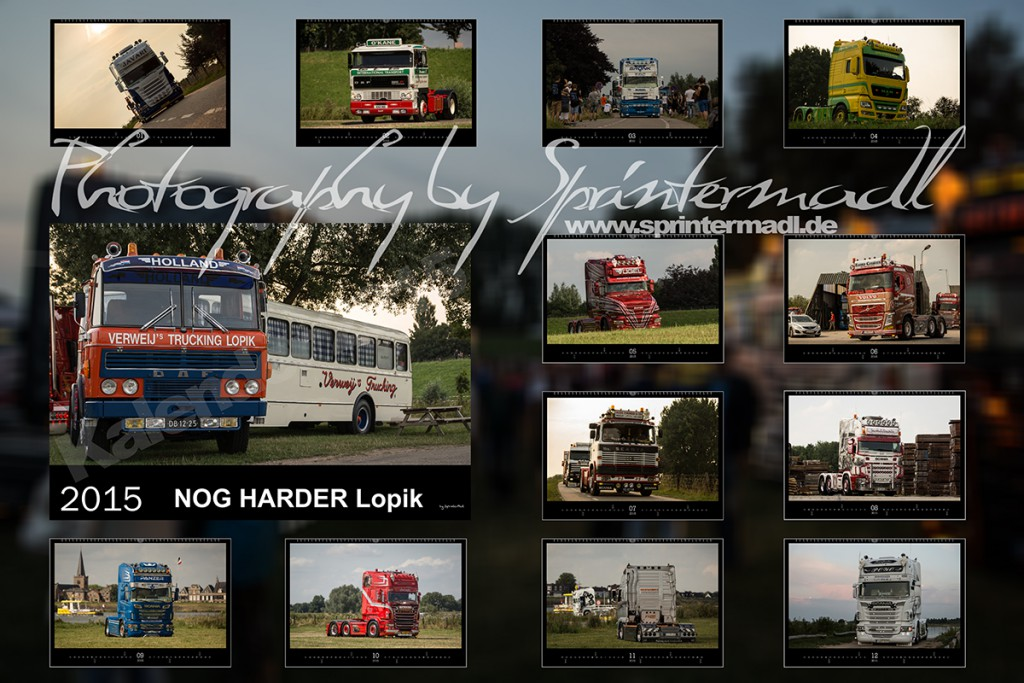 Lopik LKW Kalender 2015 Collage